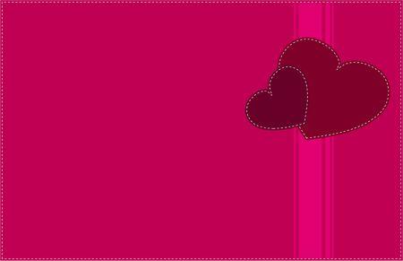 Dos corazones de amor tarjetas Retro