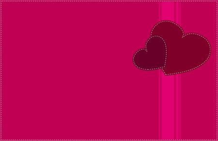 Two hearts  Retro love card  Stock Vector - 17802041