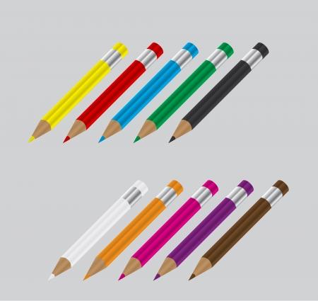 Color shiny pencils