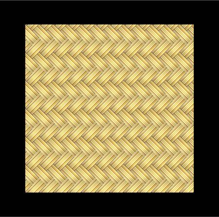 Gold rieten naadloze patroon Stock Illustratie