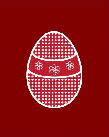 Red de huevos de Pascua Vectores