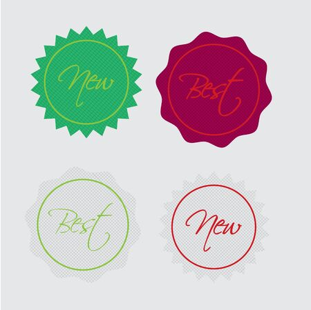 Best and new label retro Vector Vector