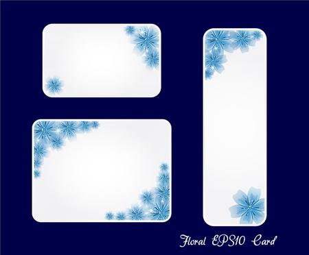 weeding: Blue gift card wit flower Weeding card