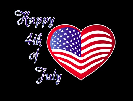 Happy 4th July Independence Day Vector Vector