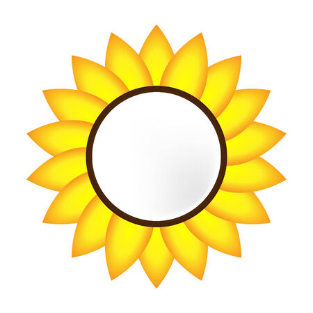 Bandera de girasol Vector