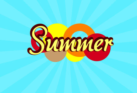 Happy Holiday Summer Card Vector Illustration