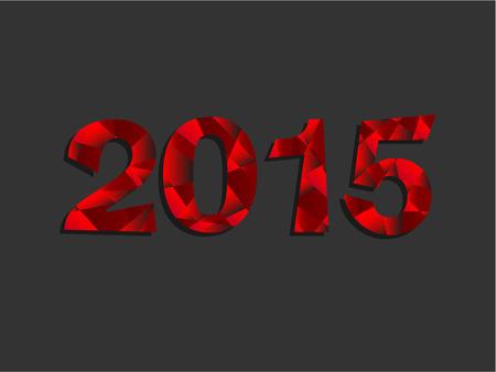 Feliz A�o Nuevo 2015 Red Triangle Mensaje de texto Vector