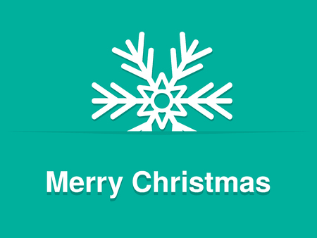 Copo de nieve aislados azul Feliz Navidad Vector Vectores