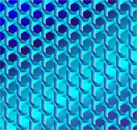 Blauwe Geometrische abstracte Patroon