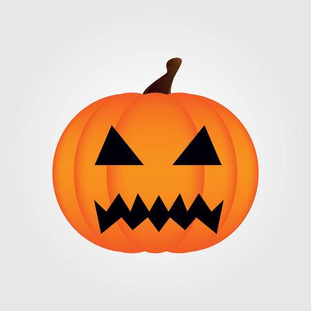 Halloween pompoen geïsoleerd Vector