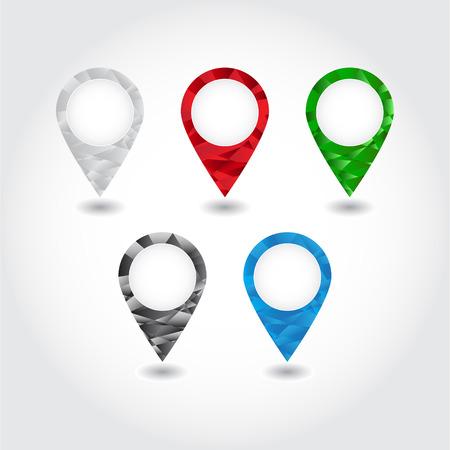 Set van kleurrijke pennen mozaïek driehoek Vector Stock Illustratie
