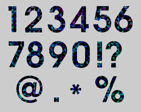 Set  Numbers Set Triangle Mosaic Vector