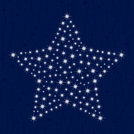 Estrella de la Navidad Estrella De Grunge en fondo vectoriales