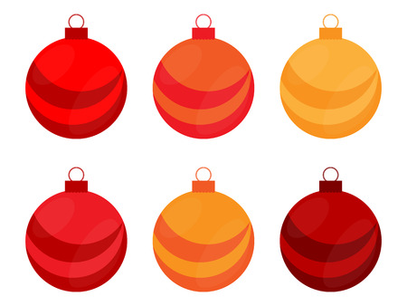 jaune rouge: No�l rouge, jaune et orange Ampoule Illustration