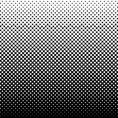 Halftone Abstract Background Black and White Vector Illustration