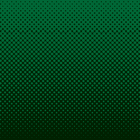 Halftone Abstract Background Green Vector