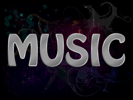 Music Abstract Grunge Colorful Background Poster Vector Vector