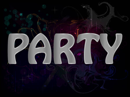 Party Abstract Grunge Colorful Background Poster Vector Vector
