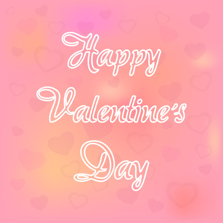 Feliz D�a de San Valent�n. Amor rosado con el vector del coraz�n Vectores