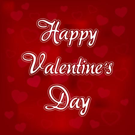 Fijne Valentijnsdag . Liefde Rood met hart Vector