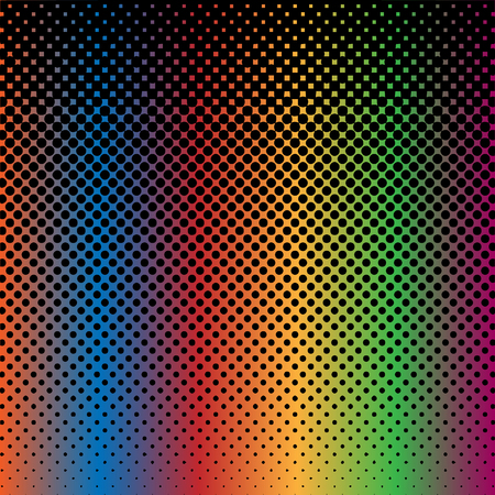 Halftone Abstract Background Rainbow and Black Color Vector Vector