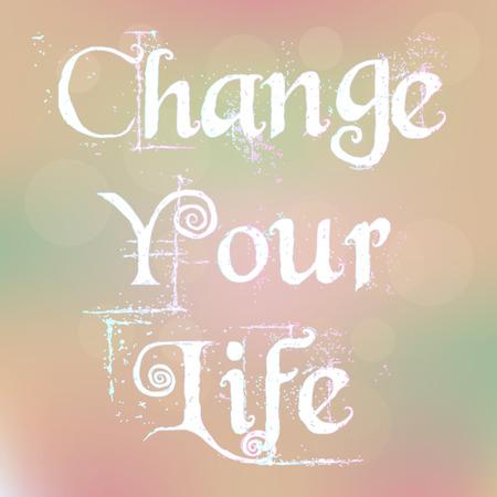 Cambie su texto Life Magic blanca en el fondo borroso Resumen cita de la motivaci�n del cartel de la tipograf�a vector