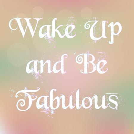 Wake Up and Be Fabulous Magic Witte Tekst op onscherpe achtergrond Abstract Motivatie Citaat Typografie Vector