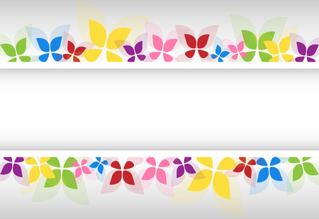 Colorful Retro Butterfly Frame for Your Design. Spring and Summer Banner With Place For Your Text. Vector