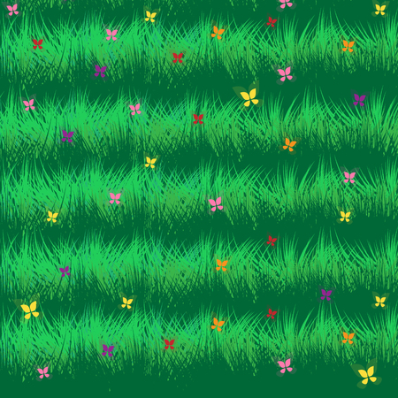 Spring background with butterfly vector card