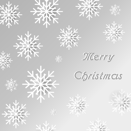 pf: Merry Christmas Snowflakes Background Wallpaper Vector