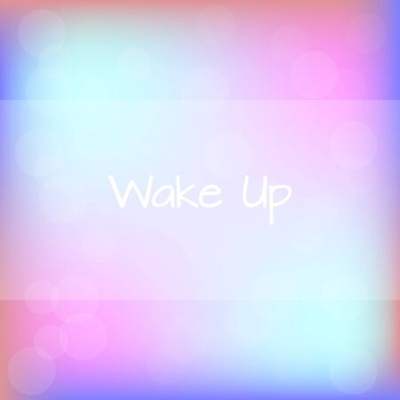 Wake Up Rainbow Blurred Background Motivation Quote Poster Typography Vector Vektorové ilustrace