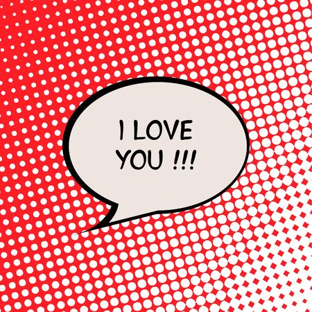 I Love You Valentine Card with Halftone Effect