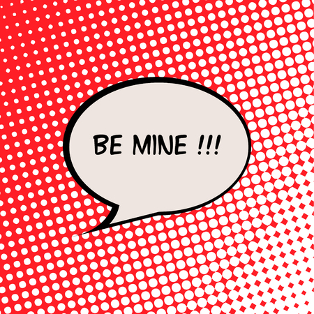 Be Mine Valentine Card with Comics Halftone Effect