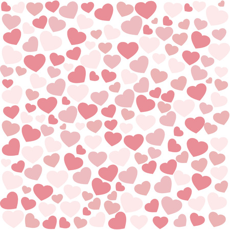 Hearts for Valentine background vector Illustration