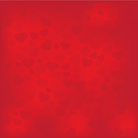 Hearts for Valentine background vector Illustration