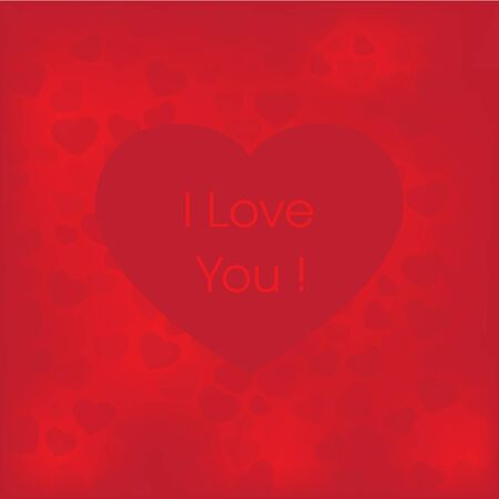 I love you Valentine card vector