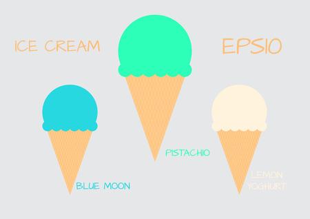 sorbet: Ice cream sorbet retro icon Illustration