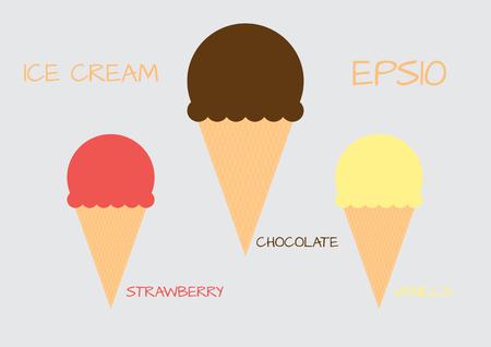 objec: Ice cream sorbet retro icon Illustration