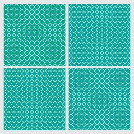 Simply Retro geometric seamless pattern . Mint green, blue and white.