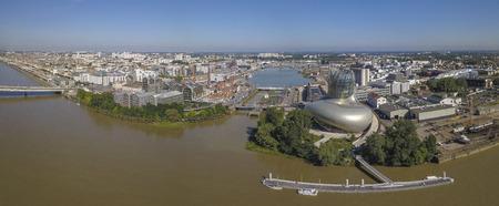 Garonne River at Bordeaux, Aquitaine, France