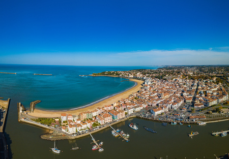 Harbour in Saint Jean de Luz, Pays Basque, France