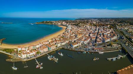 Harbour in Saint Jean de Luz, Pays Basque, France Stock Photo - 114054295