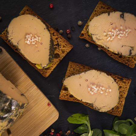 Foie gras and gingerbread cake, Bordeaux, France Banco de Imagens