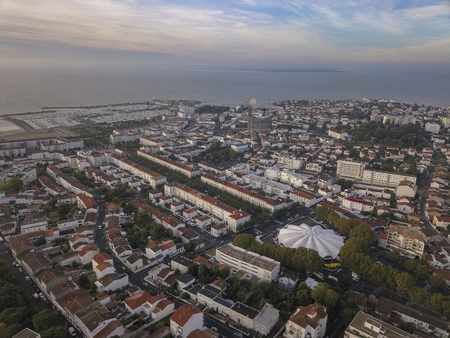 Aerial view Royan in France, department Charente Maritime, Aquitaine Imagens