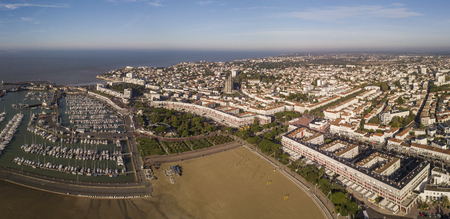 Aerial view Royan in France, department Charente Maritime, Aquitaine Stock Photo