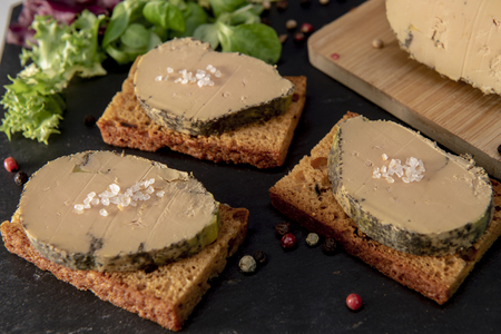 Foie Gras und Lebkuchenkuchen, Bordeaux, Frankreich