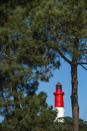 Lighthouse of Cap Ferret in Arcachon bay, Gironde, Aquitaine, France Stock Photo