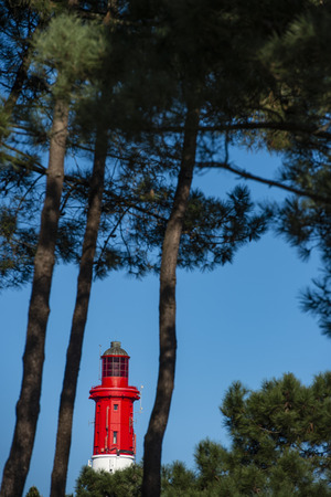 Lighthouse of Cap Ferret in Arcachon bay, Gironde, Aquitaine, France Reklamní fotografie