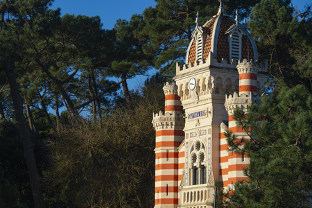 Algerian Villa chapel, Cap Ferret, Bassin Arcachon in france side waterfront, France