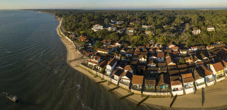CAP FERRET, Arcachon Bay,Gironde, France, the oyster village of Herbe